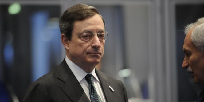Mario Draghi, le président de la Banque centrale européenne, M. Draghi a dit qu'il restait