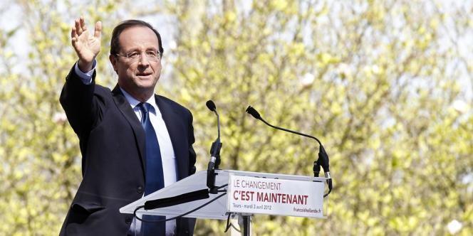 François Hollande, à Tours, le 3 avril 2012.