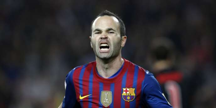Andres Iniesta, le 31 mars à Barcelone.