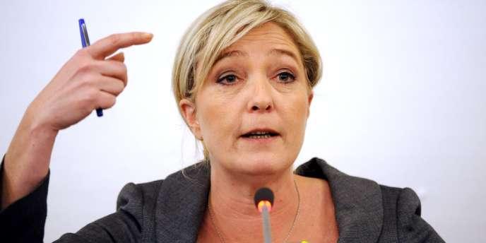 Marine Le Pen, le 3 avril 2012 à Puteaux.