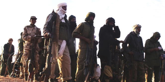 Une photo de combattants du Mouvement national pour la libération de l'Azawad (MNLA), publiée par le mouvement rebelle le 2 avril.