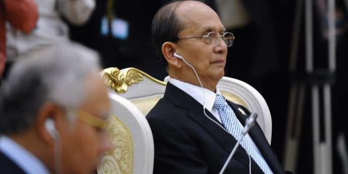 Le président birman Thein Sein au sommet de l'ASEAN à Phnom Penh, le 4 avril 2012.