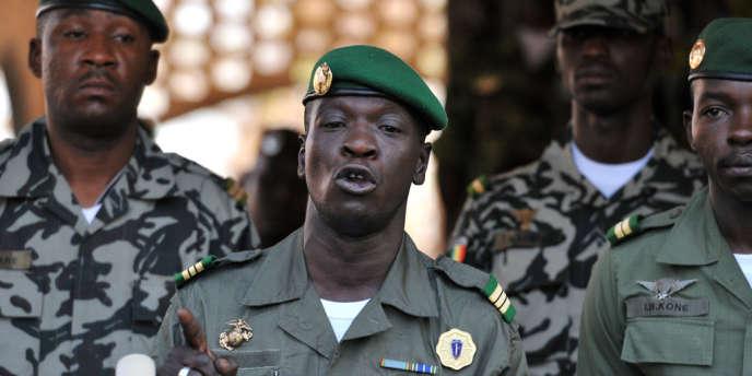 Le chef de la junte malienne, Amadou Sanogo, le 3 avril à Bamako.