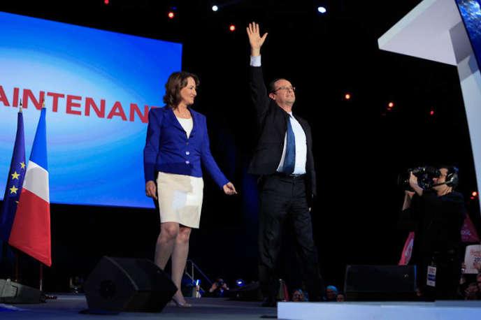 François Hollande et Ségolène Royal, le 4 avril à Rennes.