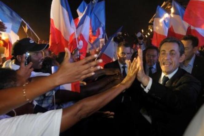 Nicolas Sarkozy, le 4 avril à Pierrefonds (La Réunion).