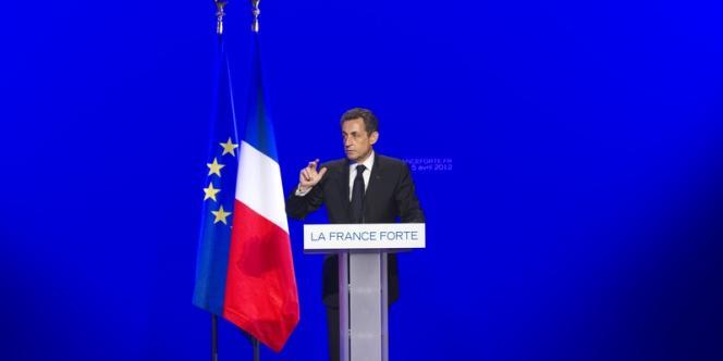 Nicolas Sarkozy le 5 avril à Paris.