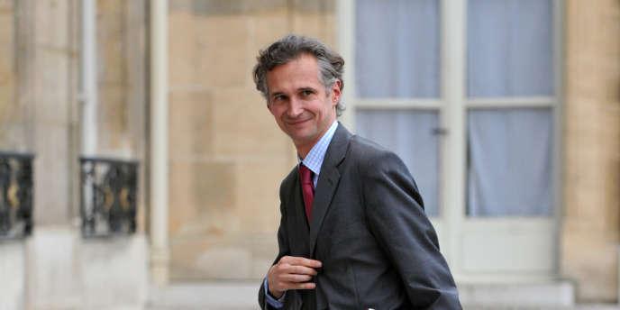 Antoine Gosset-Grainville arrive, le 11 avril 2008, au Palais de l'Elysée à Paris.