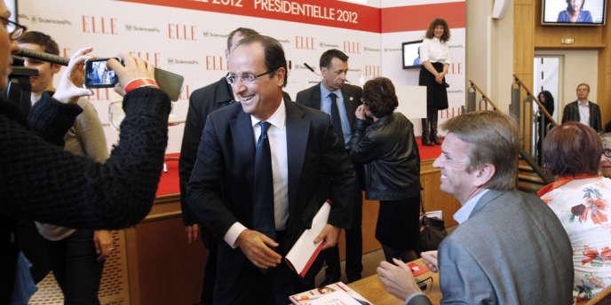 François Hollande à Sciences Po Paris, le 5 avril.