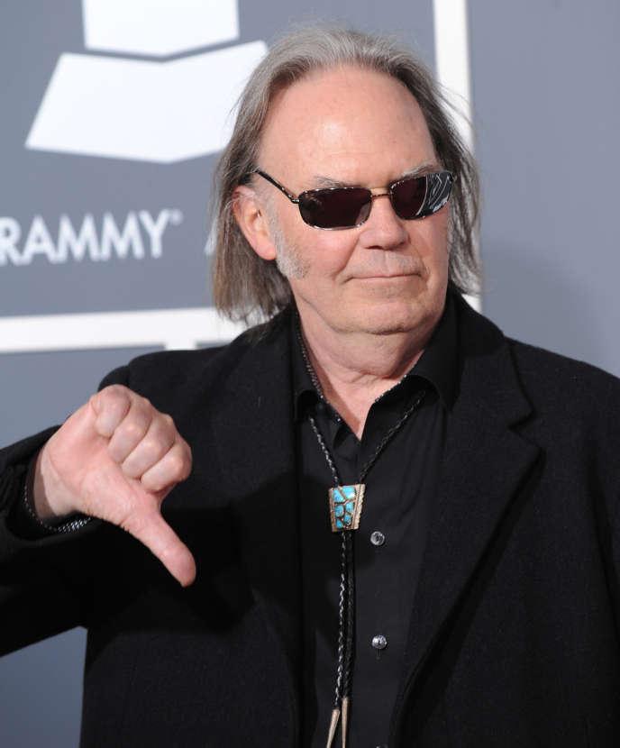 Neil Young à la cérémonie des Grammy Awards à Los Angeles, le 13 février 2011.