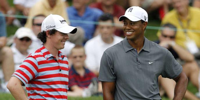 Tiger Woods et Rory McIlroy, ici en juin 2010, seront les deux attractions des Masters d'Augusta.