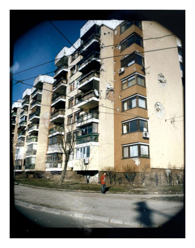 Quartier de Dobrinja, à Sarajevo, le plus important de la ville. Il fut encerclé dès le début de la guerre.
