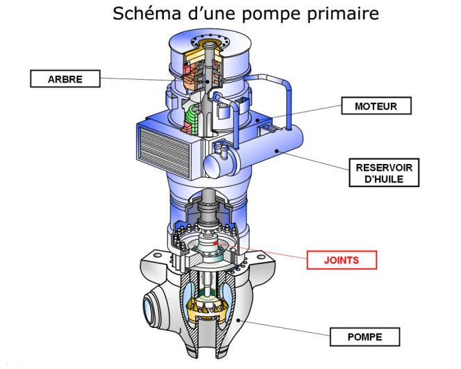 Schéma d'une pompe primaire.