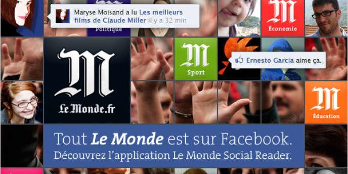 Le Monde lance en avant-première, vendredi 6 avril, son application social reader sur Facebook. Découvrez, testez, ses fonctionalités et posez-nous vos questions !
