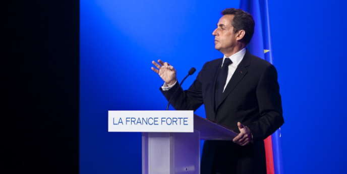 Nicolas Sarkozy, lors d'un meeting à Paris, le 5 avril.