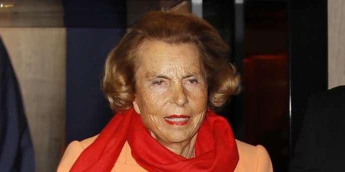 Liliane Bettencourt, le 29 mars 2012, à Paris.