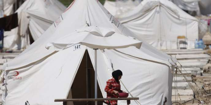 Une réfugiée syrienne dans un camp en Turquie, à Reyhanli, le 4 avril 2012.