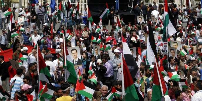 Commémorations de la naissance du parti Baas, le 7 avril.