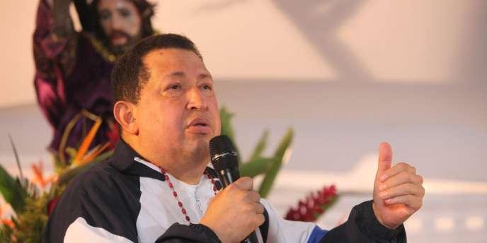 o Chavez lors d'une messe à Barinas, au Venezuela, jeudi 5 avril.
