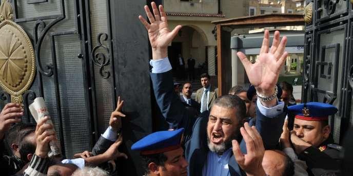 Le candidat à l'élection présidentielle des Frères musulmans Khayrat Al-Chater, au Caire, le 5 avril 2012.