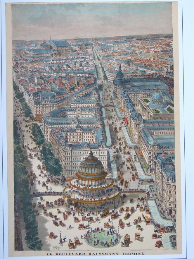 Le boulevard Haussmann terminé, dessiné par Karl Fichot. «Le Journal illustré», janvier 1893.