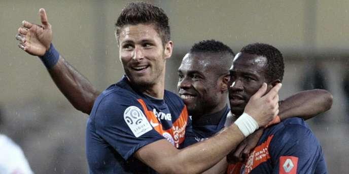Olivier Giroud, le 7 avril face au stade de la Mosson.
