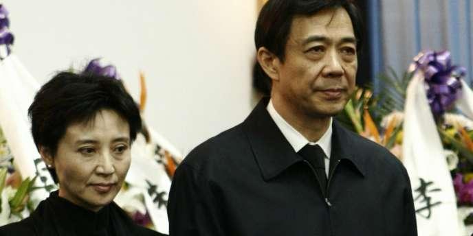Bo Xilai et son épouse, Gu Kailai, poursuivis respectivement pour