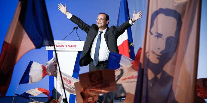 François Hollande en meeting à Besançon, le 10 avril.