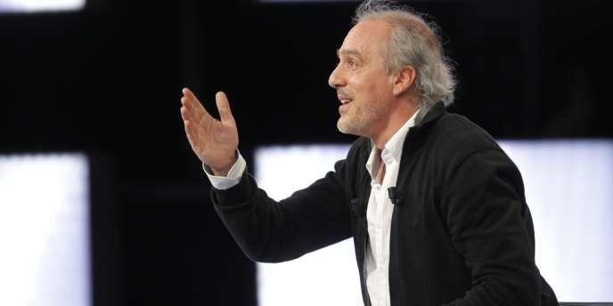 Le candidat du NPA Philippe Poutou, lors de l'émission