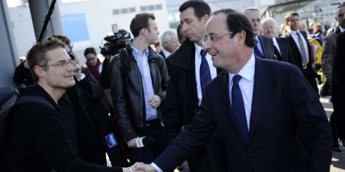 François Hollande en visite à Marseille, en mars 2012.