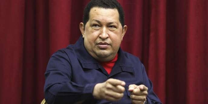 Le président Hugo Chavez à la télévision mercredi 11 avril, jour anniversaire de la tentative de coup d'Etat à son encontre, en 2002.