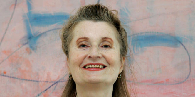 La romancière Elfriede Jelinek, Prix Nobel de littérature, à Vienne en octobre 2004.