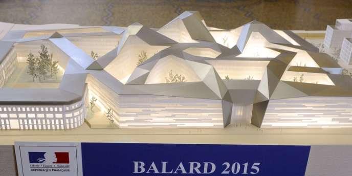 Maquette du futur ministère de la défense à Balard.