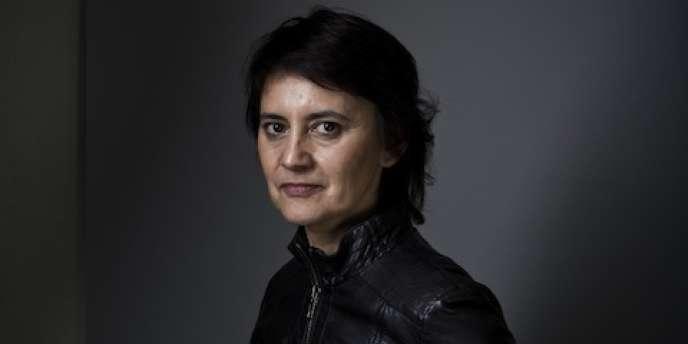 Nathalie Arthaud, candidate de Lutte ouvrière à l'élection présidentielle, jeudi 12 avril.