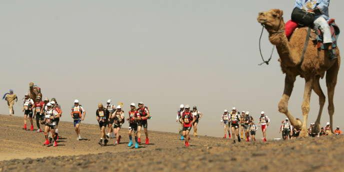 Le marathon des sables en 2008.