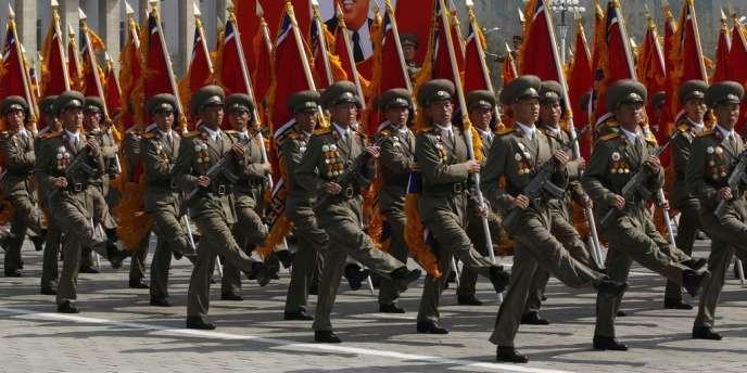 Parade militaire en Corée du Nord, en avril.