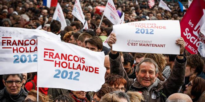 Selon l'équipe de François Hollande, plus de 100 000 personnes se sont réunies, dimanche 15 avril, à Vincennes.
