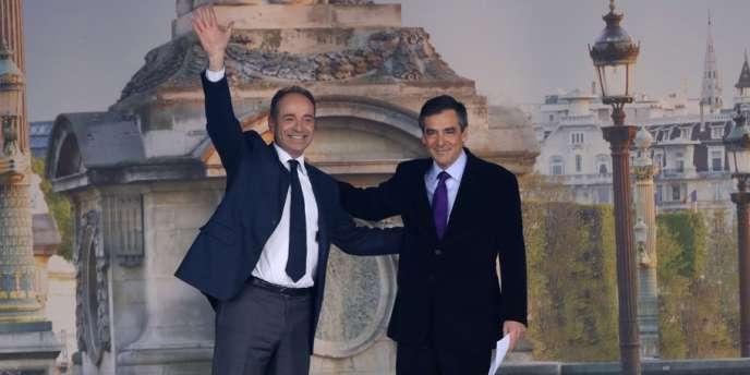 François Fillon et Jean-François Copé, place de la Concorde le 15 avril