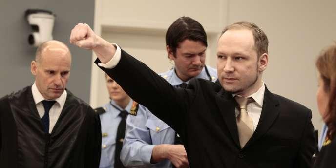 Anders Behring Breivik à l'ouverture de son procès le 16 avril.