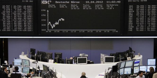 La Bourse allemande à Francfort.