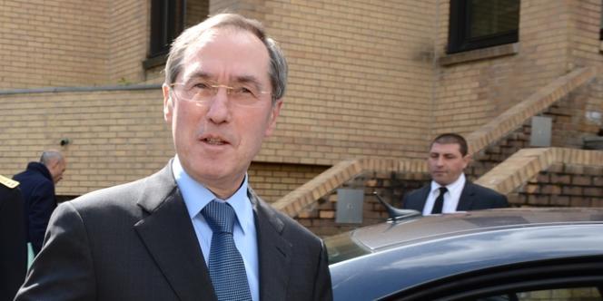 Claude Guéant, le 11 avril 2012 à Chambéry.