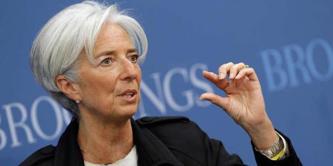 Christine Lagarde, la directrice générale du FMI, le 12 avril à Washington.
