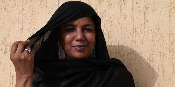 Nina Wallet Intalou, dirigeante du MNLA, le 16 avril à son domicile à Nouakchott.