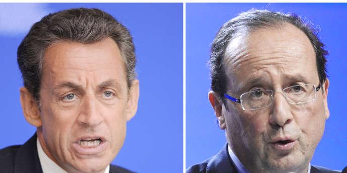 Nicolas Sarkozy et François Hollande sont les deux candidats qualifiés pour le deuxième tour.