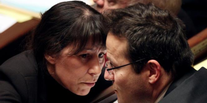 Martin Hirsch et Fadela Amara à l'Assemblée, le 13 novembre 2007, à Paris.