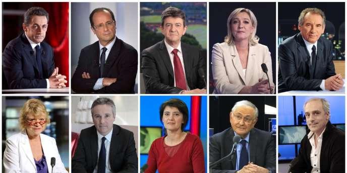 Dix candidats étaient engagés dans la course à l'Élysée.