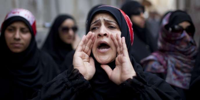 Des opposants au régime, avant le Grand Prix du Bahrein le 19 avril 2012 à Manama.