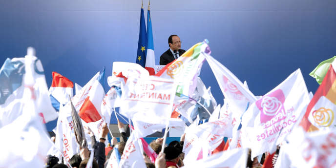 François Hollande en meeting à Bordeaux, le 19 avril.
