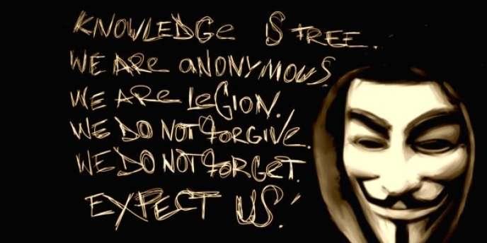 La devise des Anonymous.
