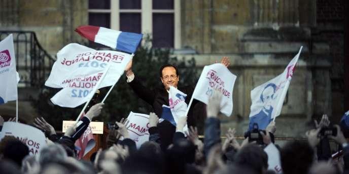 François Hollande, le 20 avril à Charleville-Mézières.