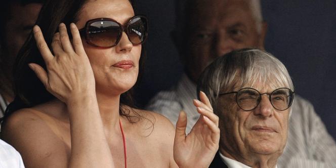 Bernie Ecclestone avec son ex-femme. Elle a obtenu 892 millions d'euros d'indemnités lors de son divorce. Photo:Darko Bandic/AP